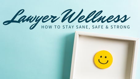 Lawyer Wellness: How to Stay Sane, Safe & Strong