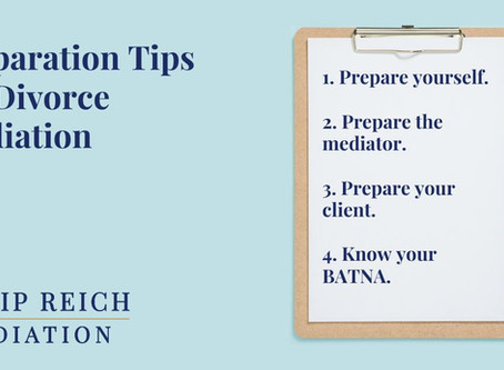 Preparation Tips for Divorce Mediation