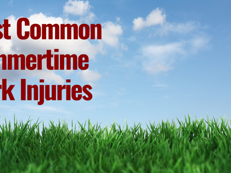 Most Common Summertime Work Injuries