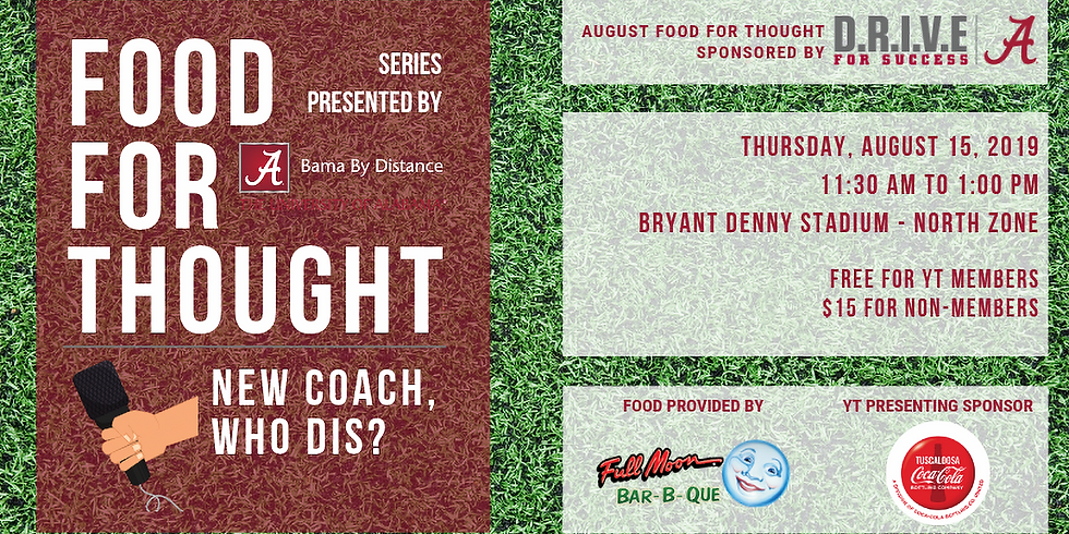August Food for Thought: New Coach, Who Dis?