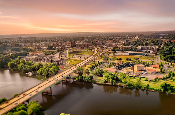 Aerial view of downtown Tuscaloosa