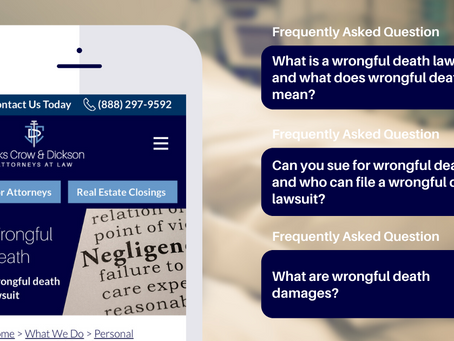 Frequently Asked Questions (FAQs) on Wrongful Death