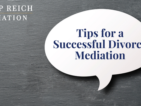 Tips for a Successful Divorce Mediation