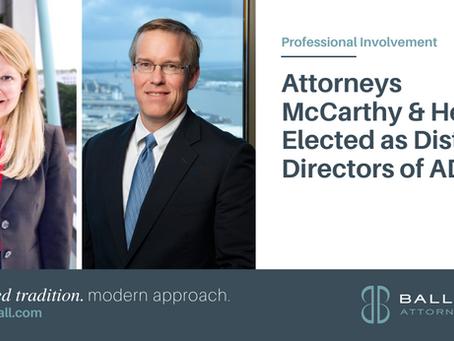 Attorneys McCarthy & Heinz Elected as District Directors of ADLA