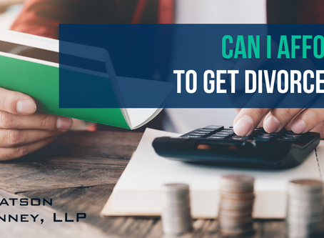 Can I Afford to Get Divorced?