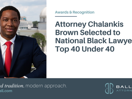 Attorney Chalankis Brown Selected to National Black Lawyers' Top 40 Under 40