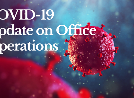 COVID-19 Update on Office Operations