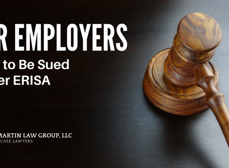 For Employers: How to Be Sued Under ERISA