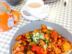 Breakfast Hash - our version of a 'full english' ....on toast of course!