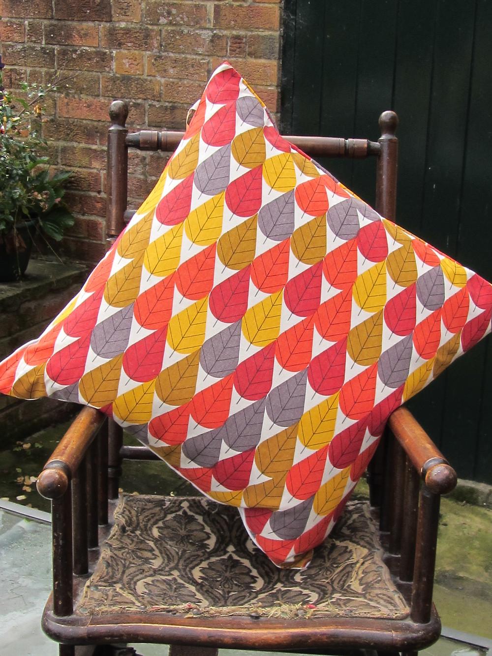 Organic cotton canvas cushion