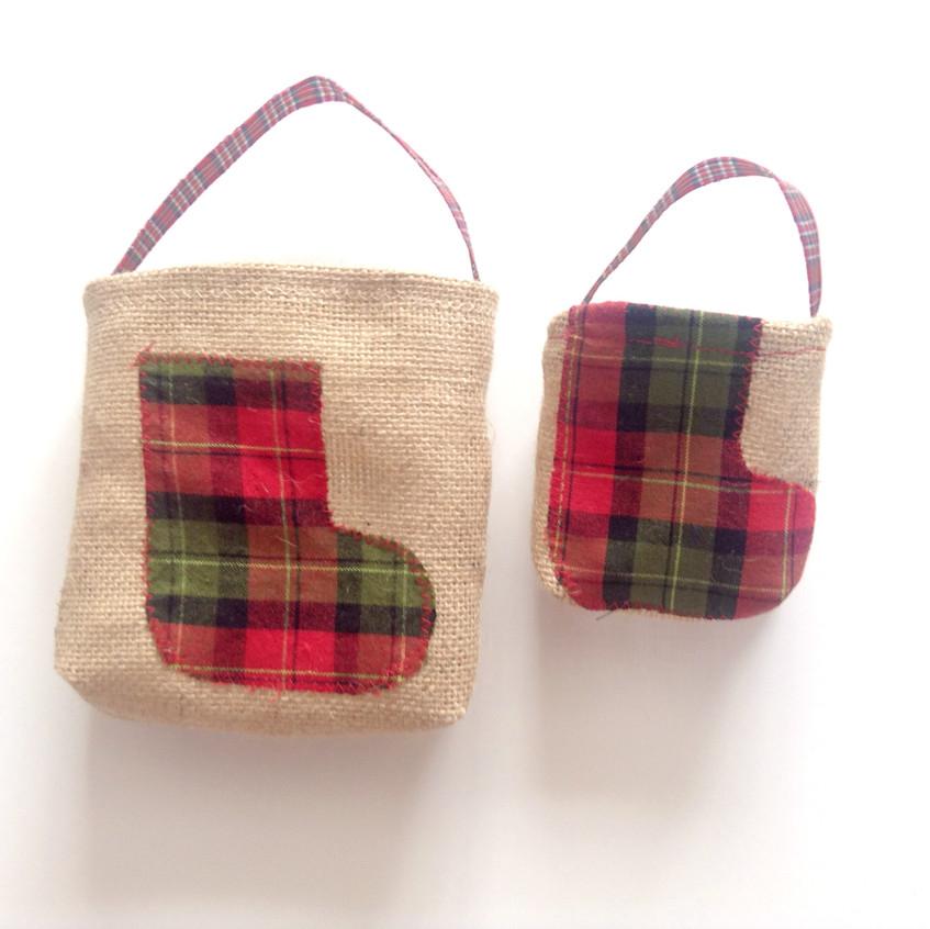 Small and medium Christmas Jute bags
