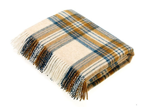 Moons Wool Throw/Shetland Wool Throw/National Trust Collection Wool Throw