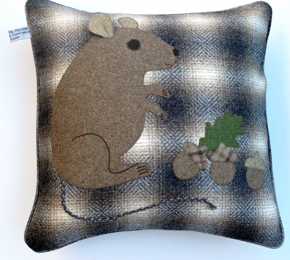 Mousey Wool cushion