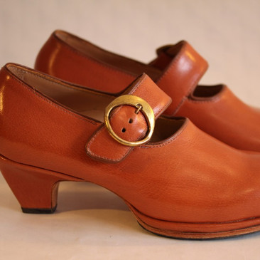 Walnut Mary Jane Platform Heel