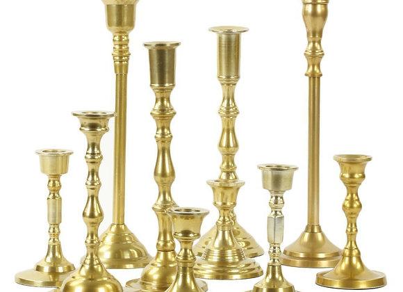 Mixed Height Golden Candlesticks