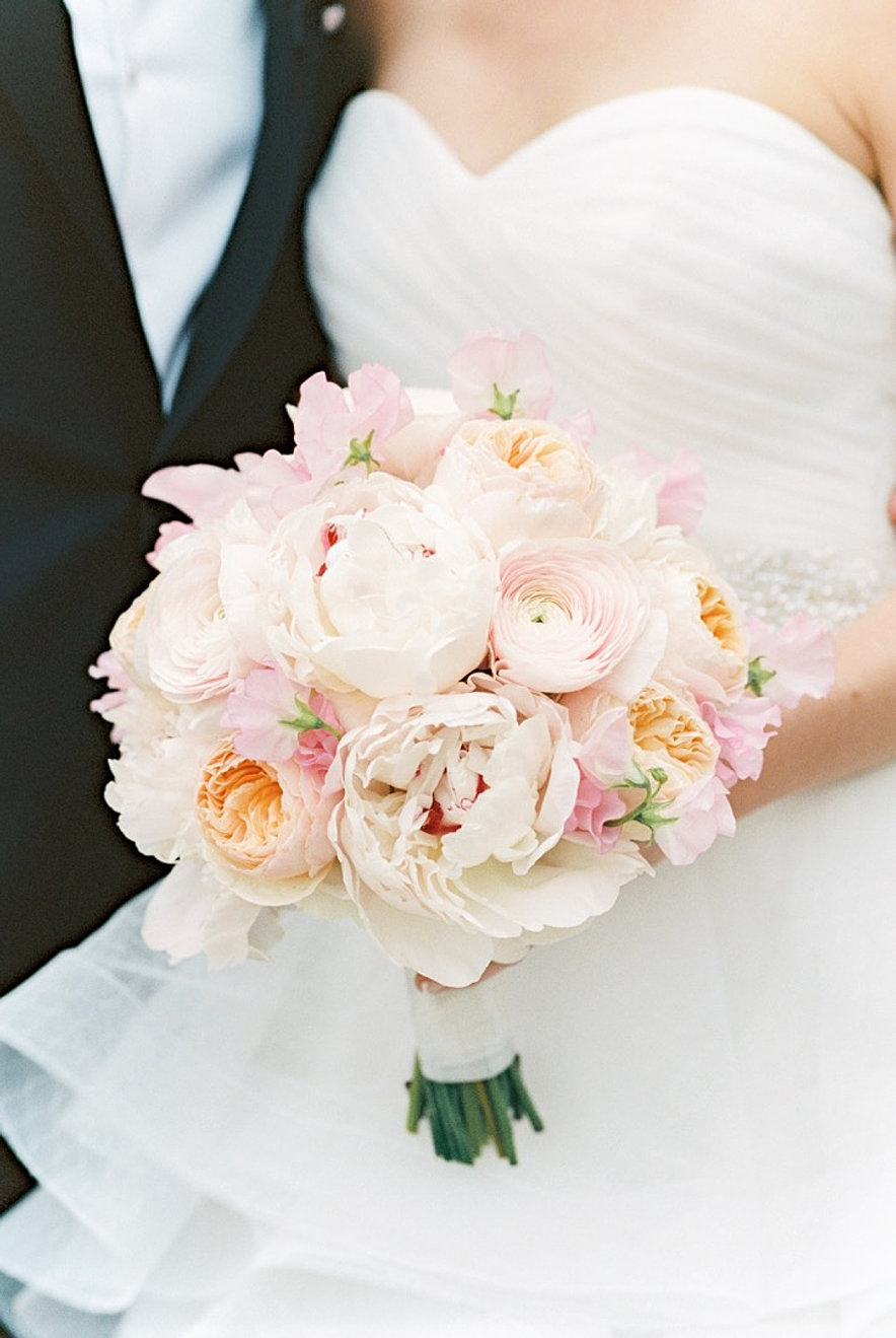 Peach Garden Rose Bouquet wedding bouquets
