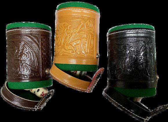 Cubilete de Piel con diseño mexicano