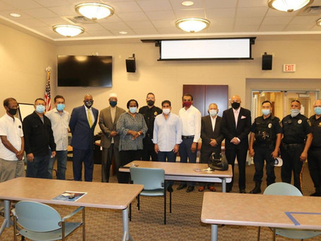 Sheriff Eric Scheffler, local community leaders and Avanzar meet for a forum on racial healing