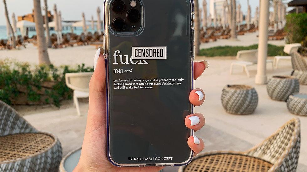 Элит-кейс на iPhone c противоударным кантом F*ck Censored