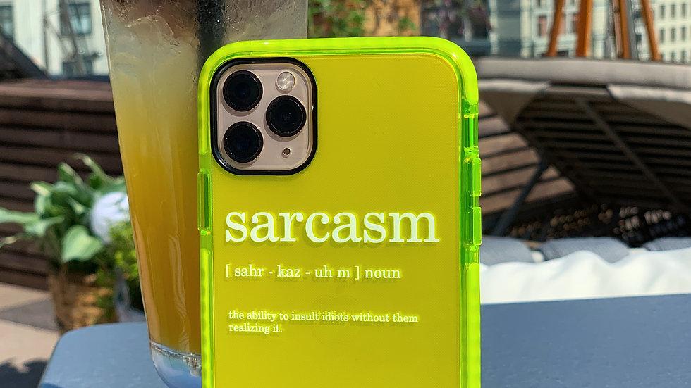 Элит-кейс на iPhone Neon green edition Sarcasm