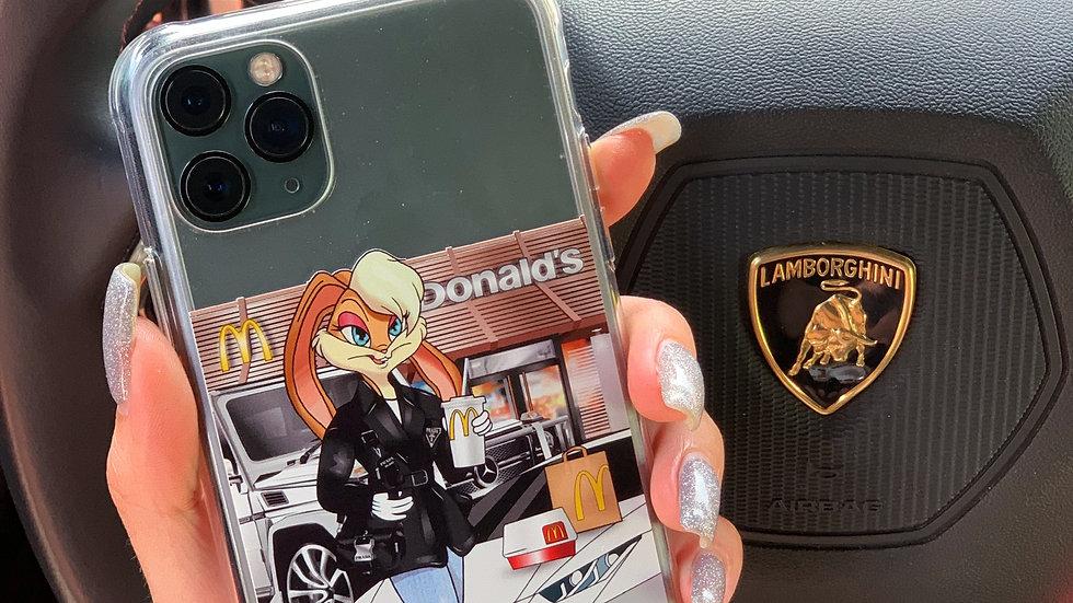 Ultra-matte премиум-кейс на iPhone MCDonald Lolla