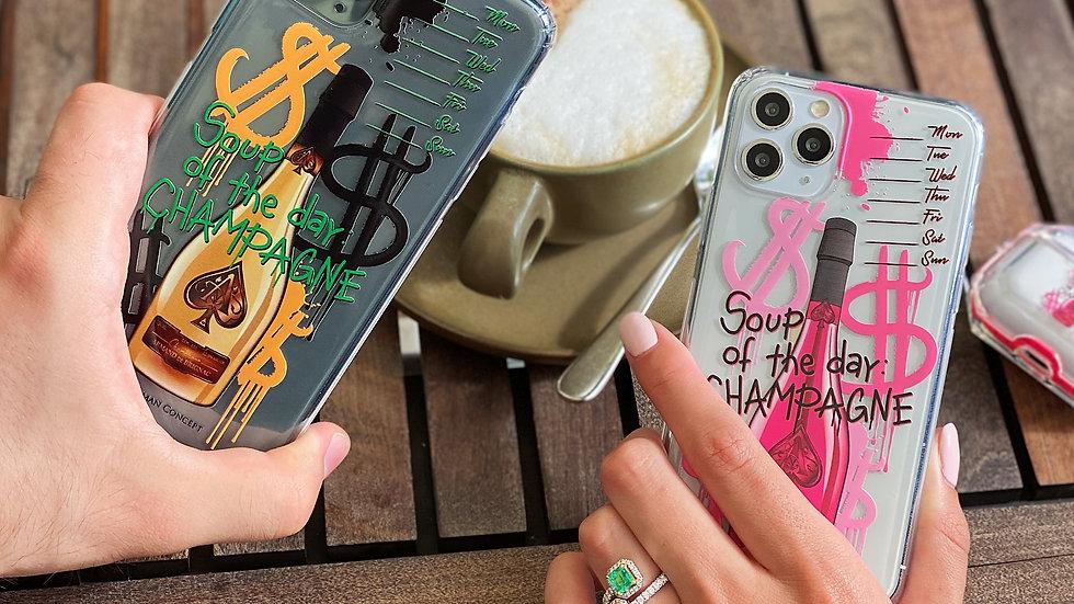 Парные премиум-кейсы на iPhone Soup Of The Day: Champagne