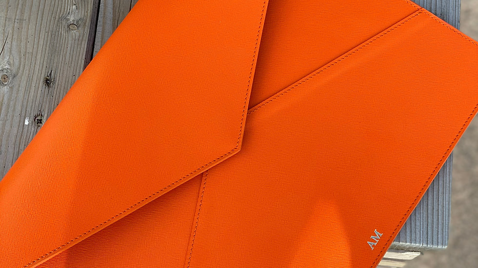 Папка для MacBook & документов Saffiano/ Orange Lava