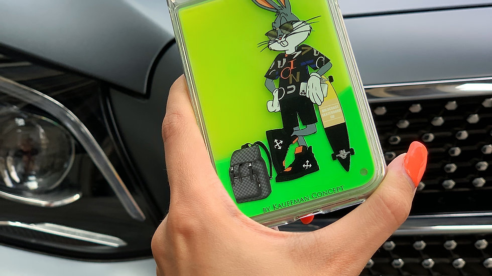 Neon Sand Case Bunny Brooklyn / Neon Green edition