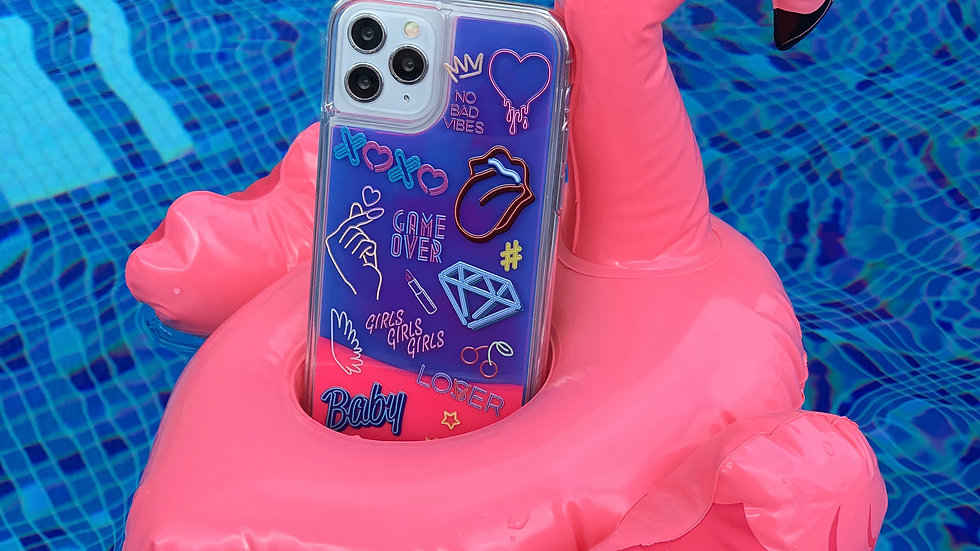 Neon Sand Case No Bad Vibes/ Violet edition