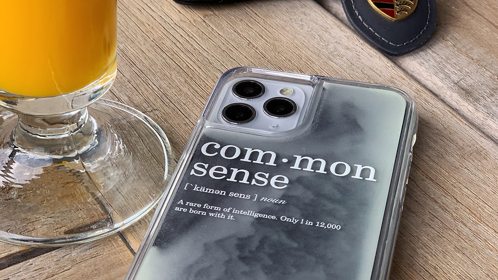 Limited Neon Sand Case COMMON SENSE/ Black