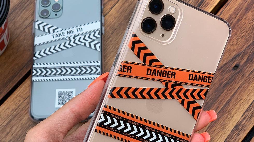 Интерактивный кейс на iPhone Danger/ Классический премиум-силикон