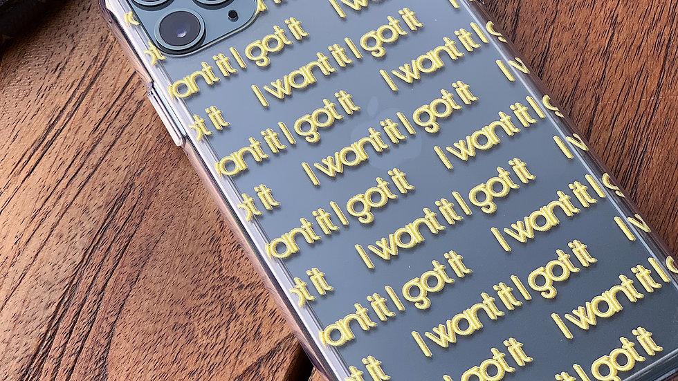 Ultra-matte премиум-кейс на iPhone I Want It