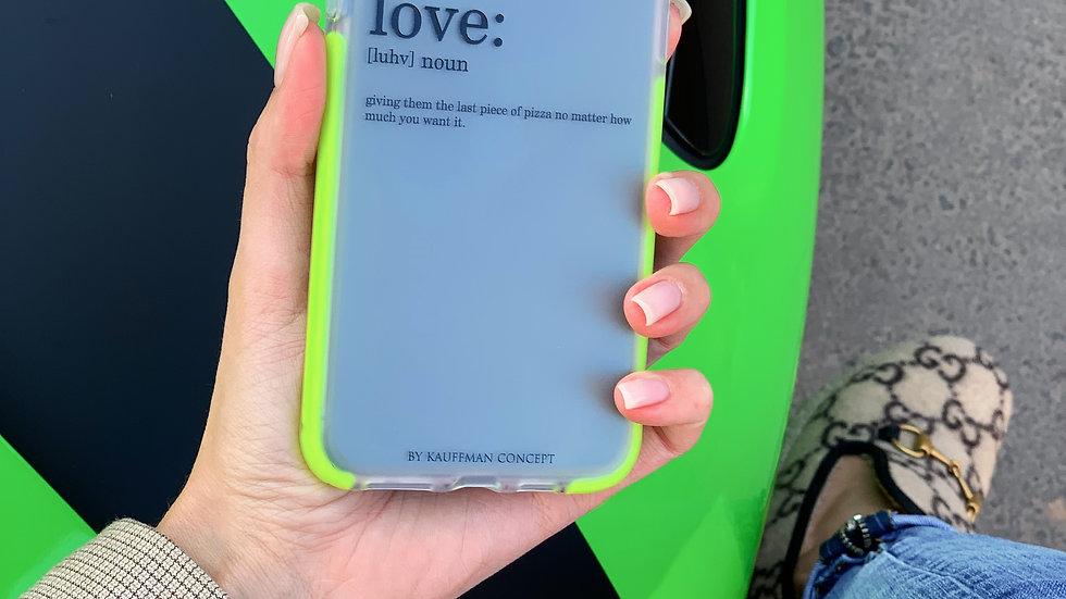 Ultra-matte элит кейс на iPhone LOVE