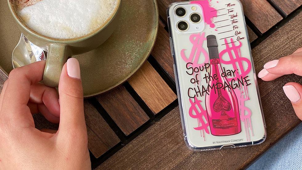 Классический премиум-кейс на iPhone Soup Of The Day: Champagne/ Pink Bottle