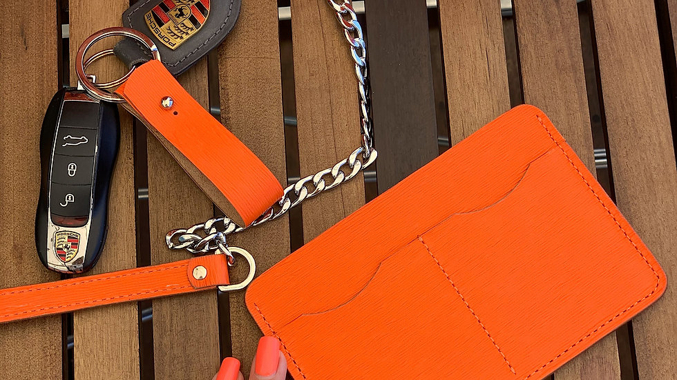 Универсальный lifestyle holder Saffiano/ Orange Lava