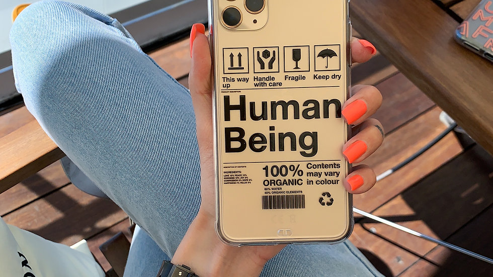 Ultra-matte премиум-кейс на iPhone HUMAN BEING
