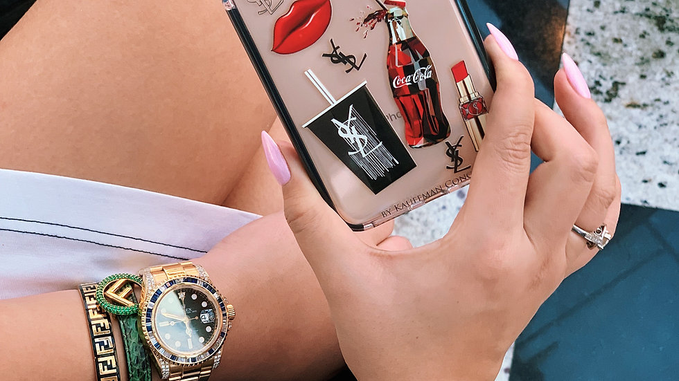 Элит- силикон кейс на iPhone с противоударным кантом
