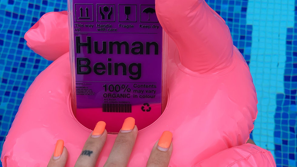 Neon Sand Case Human Being/ Violet edition