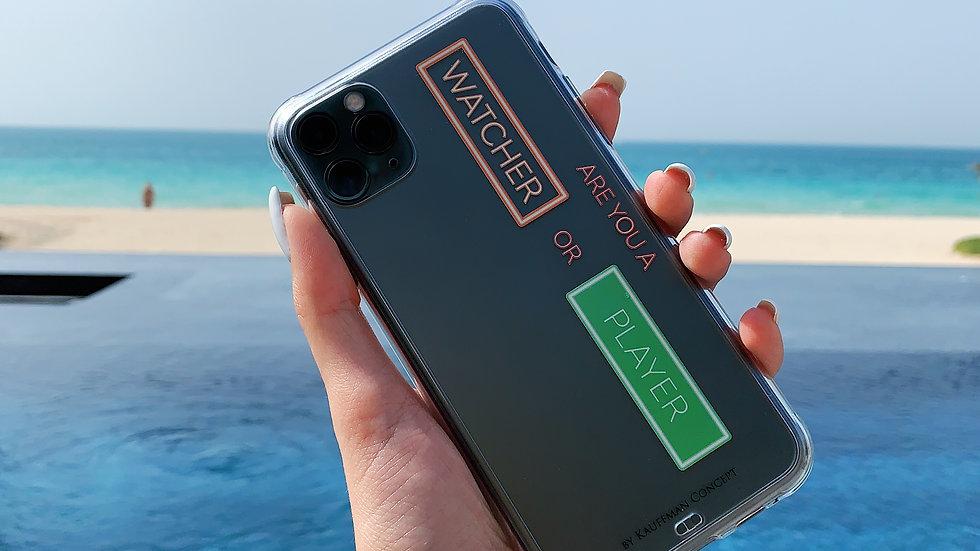 Ultra-matte премиум-силикон кейс на iPhone WATCHER/PLAYER