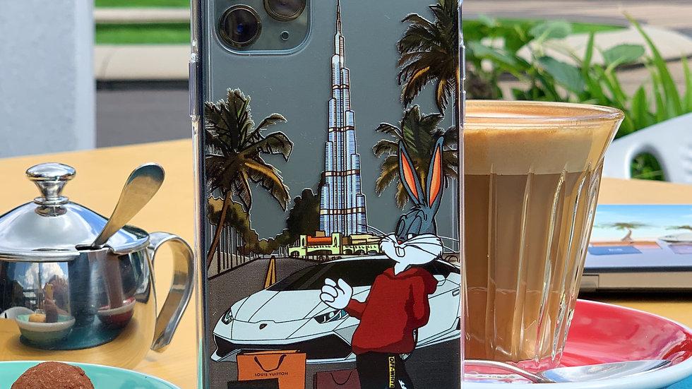 Ultra-matte премиум-кейс на iPhone Bunny Burj Khalifa