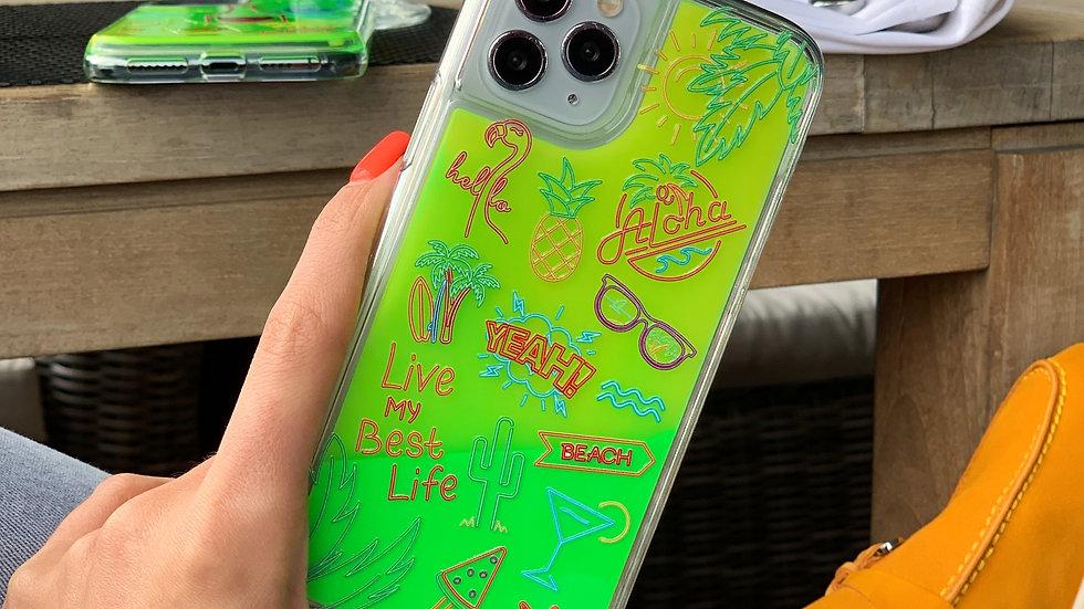 Neon Sand Case #ALOHA / Neon Green edition