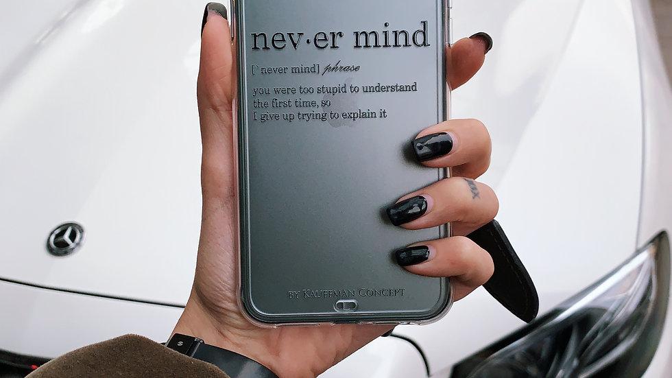 Ultra-matte премиум-силикон на iPhone Never Mind