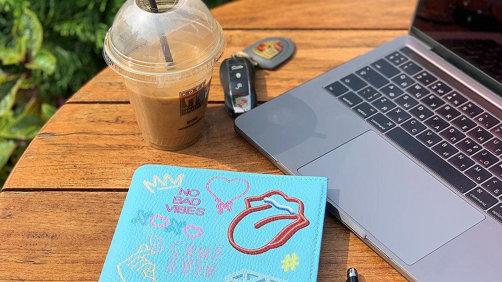 Ежедневник со сменной обложкой из натуральной кожи No Bad Vibes