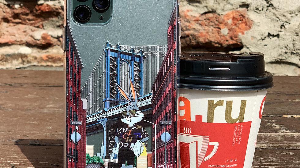 Ultra-matte премиум-кейс на iPhone Bunny Brooklyn