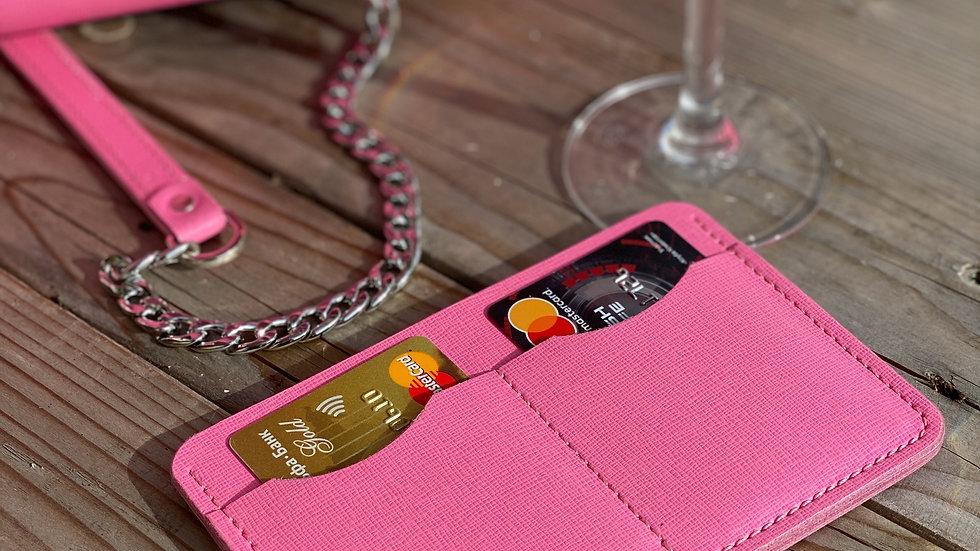 Универсальный lifestyle holder Saffiano/ Barbie Pink