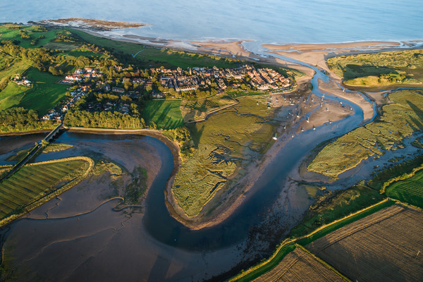 Alnmouth from the air