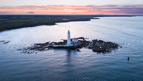 St Mary's Lighthouse from the air