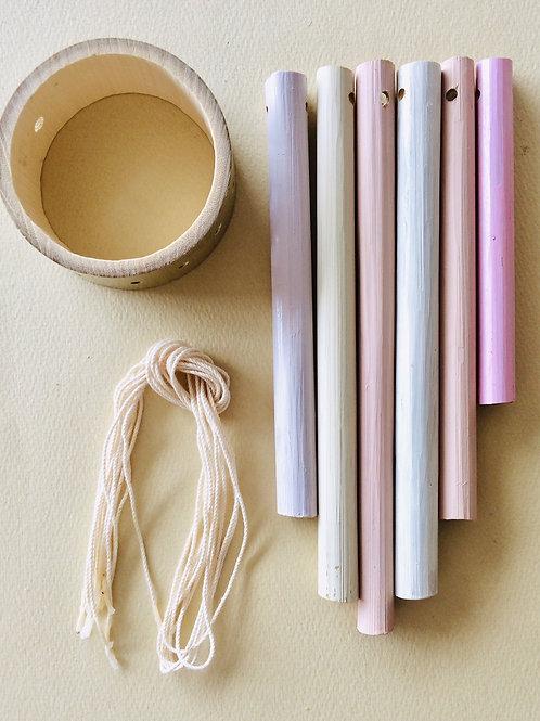 竹のウィンドチャイムキット(暖色系カラー)