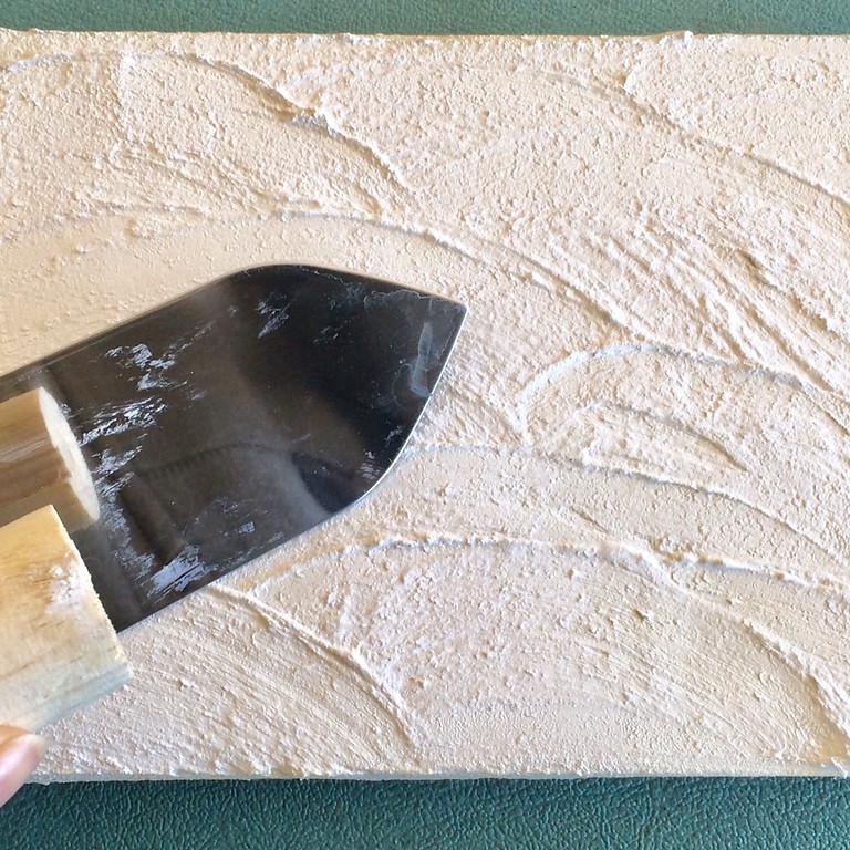 【終了】漆喰ワークショップ<漆喰アートパネルつくりと壁塗り体験>