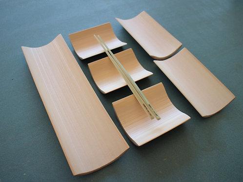 竹皿セットIE(30㎝×1枚、15㎝×2枚、10㎝×3枚)
